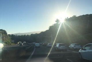 Soleil au lever du jour sur l'Ouest