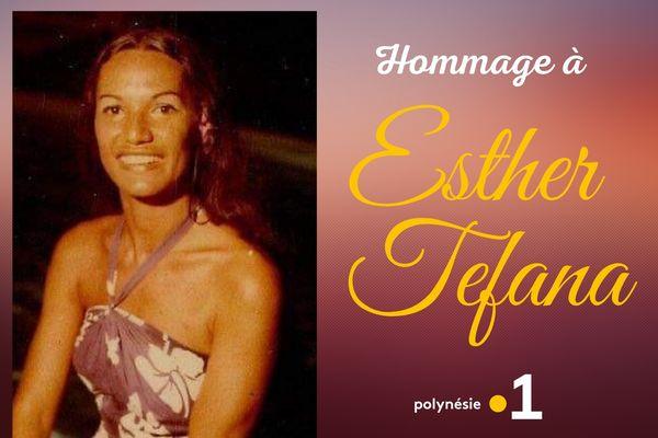 Polynésie la 1ère rend hommage à Esther Tefana