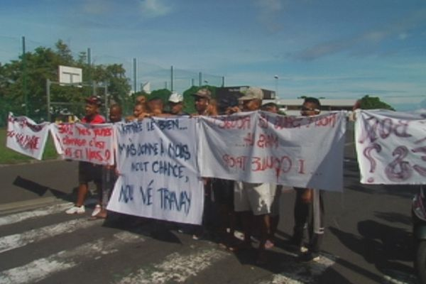 Manifestation au Port