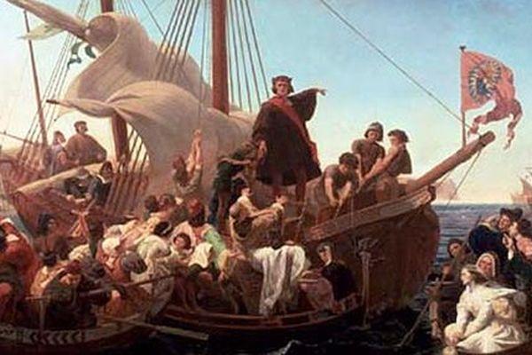Christophe Colomb sur la Santa Maria