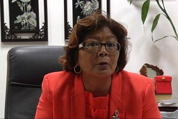 Le maire de Cayenne, Marie-Laure Phinera Horth