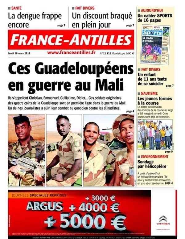 Une France Antilles Guadeloupe 18 mars
