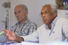 Elie Poigoune et Gérard Sarda lors du transfert de présidence ce jeudi 26 août