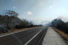 Incendie dans la savane de Plateau-Caillou, dimanche 19 septembre