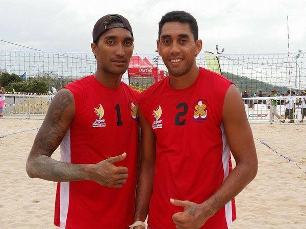 PNG2015 Beachvolley : Les.Tahitiens s'inclinent en quart de finale face aux Papous 2 set 0.