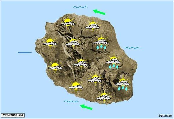 Carte météo 23 avril 2020