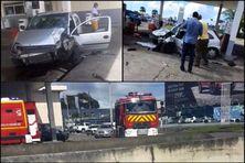 Des témoins ont photographié le véhicule après l'accident.
