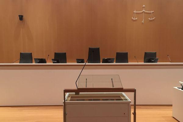 Salle d'audience au Tribunal de Paris