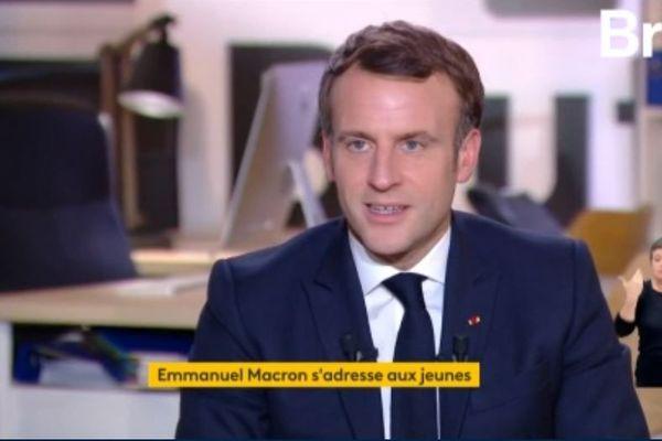 Emmanuel Macron interviewé par Brut