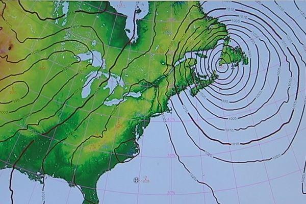 Bombe météo sur SPM