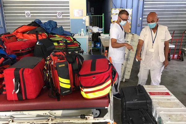 Préparation de réception de deux evasan en provenance de Mayotte -2