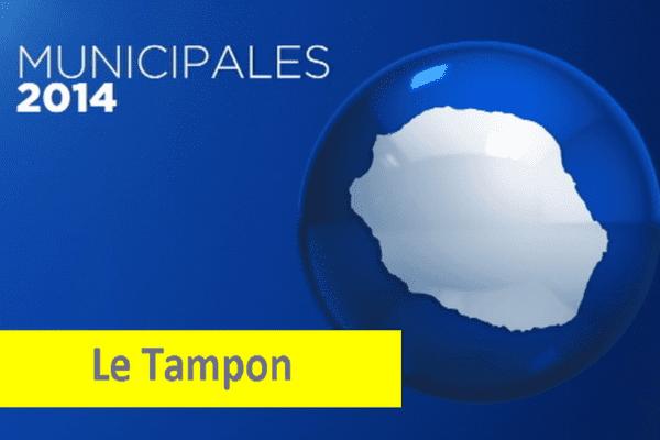 Municipales 2014 : infographie carte Le Tampon