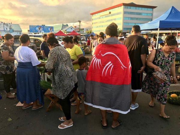 Jeux du Pacifique. Marché d'Apia