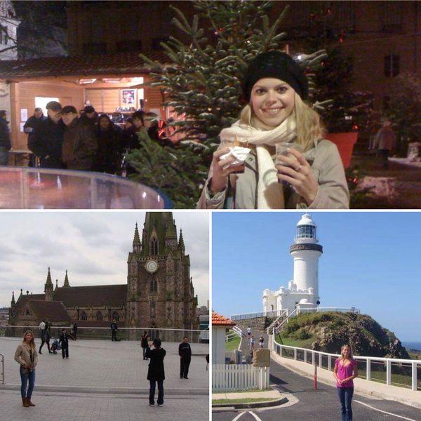 Australie, Strasbourg, Italie, Birmingham, Morgane a voyagé pendant ses études