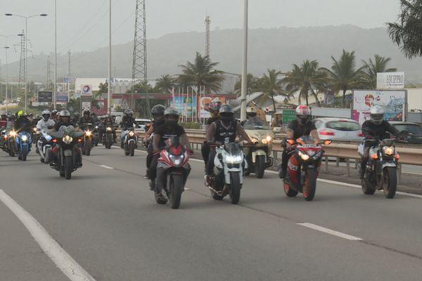 Manifestation des motards contre la loi interfile