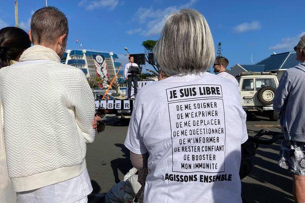 Covid-19 : marche citoyenne contre le pass sanitaire et l'obligation vaccinale, 31 juillet 2021, Nouméa