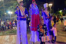 Durant les festivités du 14-juillet en 2020 à Nouméa