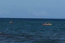 Les kayakistes ont parcouru la zone pour tenter de retrouver le corps du jeune homme.