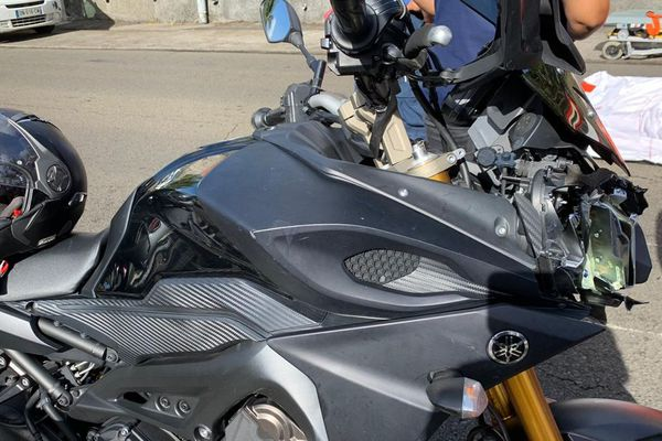 Moto endommagée