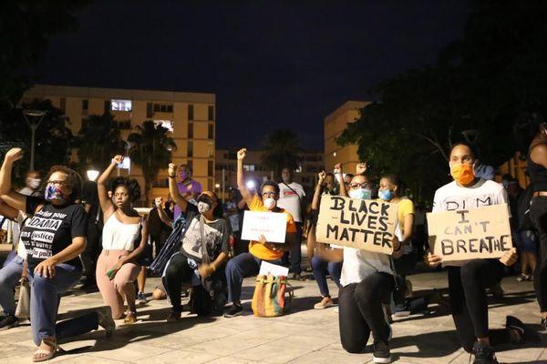 Manifestation de soutien pour George Floyd