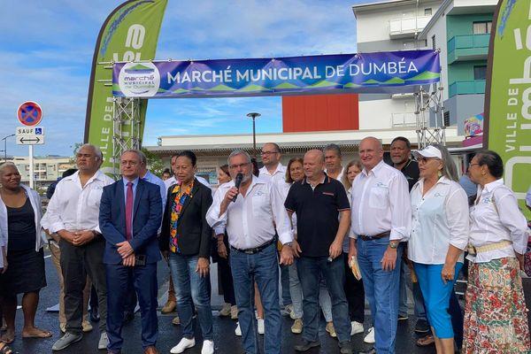 Premier marché aux halles de Dumbéa centre, samedi 17 juillet 2021
