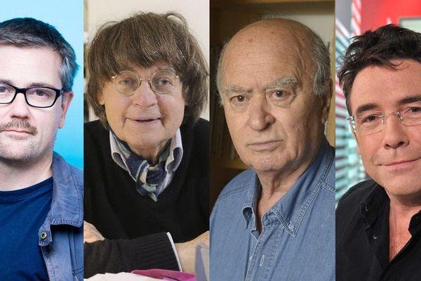 Les dessinateurs Charb, Cabu, Wolinski et Tignous (de gauche à droite).
