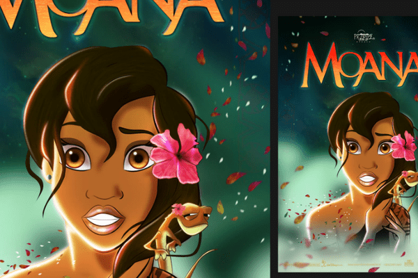 MAYBE MOANA 1 - THE LITTLE MERMAID by Nyko PK16 dessin