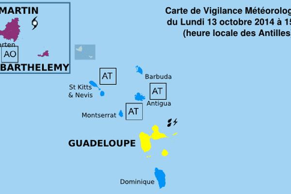 Vigilance violette à Saint- Martin et Saint- Barthélémy