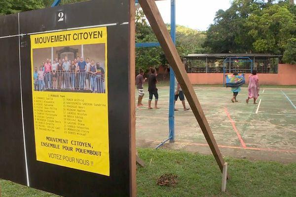 Municipales à Pouembout, affiche Mouvement citoyen, à Paouta
