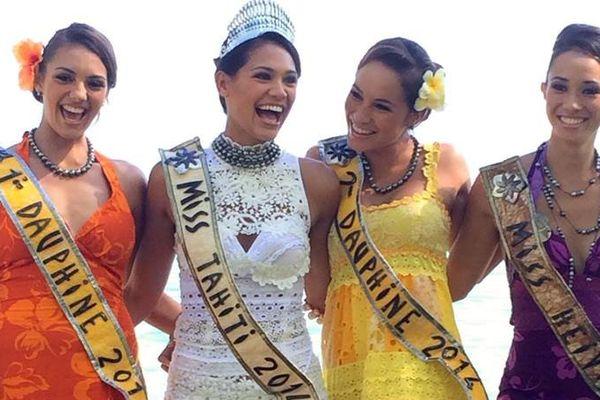 Hinarere Taputu, miss Tahiti 2014 et ses dauphines