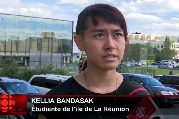 Kellia Bandasak, étudiante réunionnaise au Québec