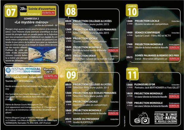Programme festival images sous-marine 2016