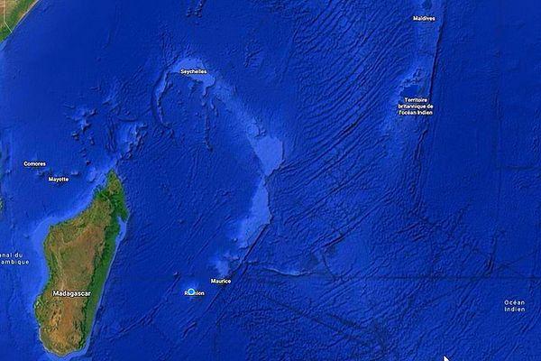 Carte de l'océan Indien mai 2021