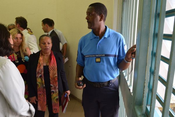 visite de christiane Taubira en Martinique