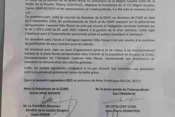 Fin du conflit à l'aéroport Félix-Eboué : pas de pass sanitaire exigé pour les salariés