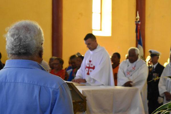 Commémoration du 22 avril 2018 à Ouvéa, messe à l'église de Saint-Michel