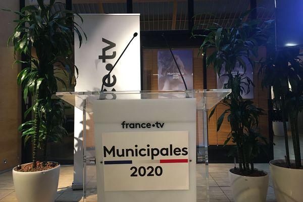 Municipales : conférence de presse France Télévisions