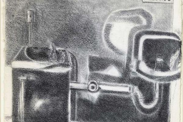 """""""Etude pour Deep South"""", 2001 (fusain sur papier)"""