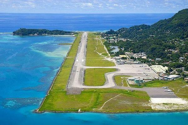 Piste d'atterrissage de Mahé aux Seychelles