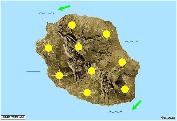 Carte météo 4 mars 2019