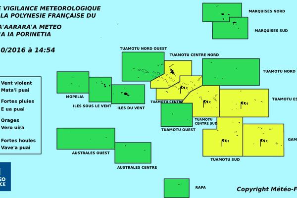 Mauvais temps sur la quasi totalité des Tuamotu