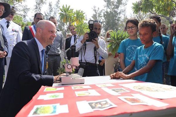 Jean-Michel Blanquer en visite à La Réunion.