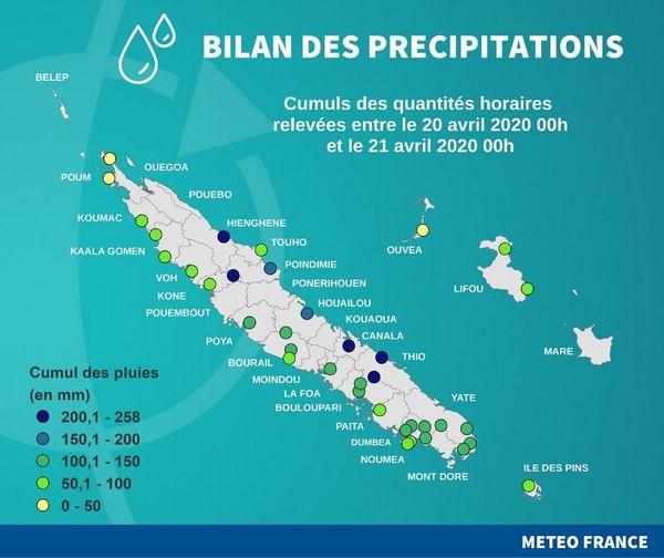 Bilan pluviométrique du 20 avril 2020