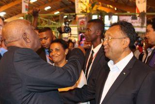 Le président de Chambre des Métiers et de l'Artisanat de Mayotte avec le président malgache Héry MAMPIANANA