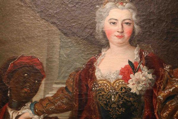 Portrait de la princesse Rakoczi et de son négrillon (Musée d'Aquitaine)