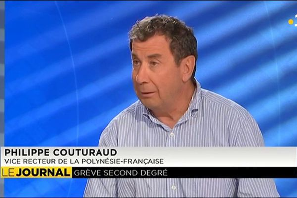Philippe Couturaud, vice recteur, invité du JT