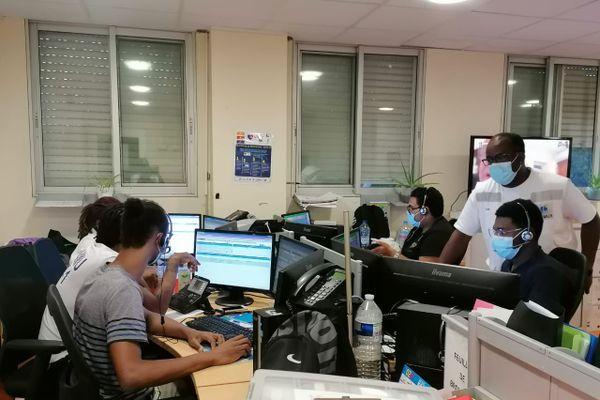 Etudiants en médecine au SAMU