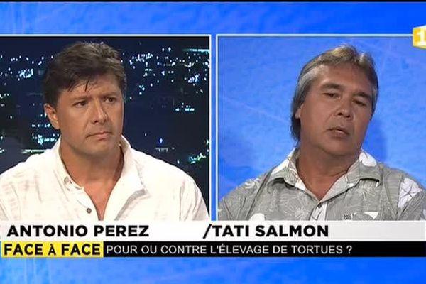 Pour ou contre l'élevage de tortues : Antonio Perez face à Tati Salmon