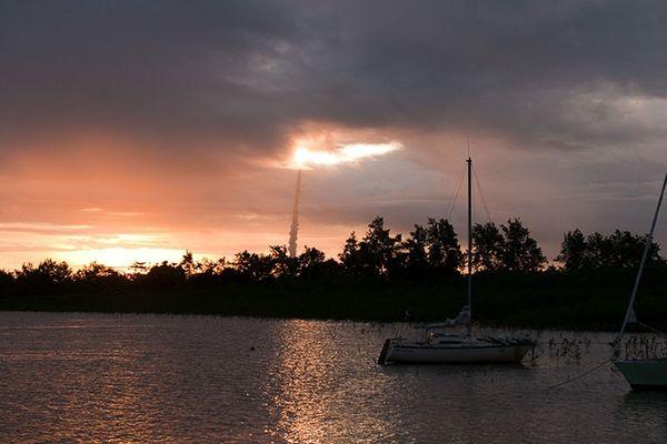 La fusée dans le ciel de Guyane