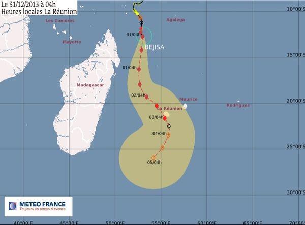 Bejisa à 945 km de La Réunion